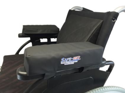 Arm cushions for armrests on wheelchair