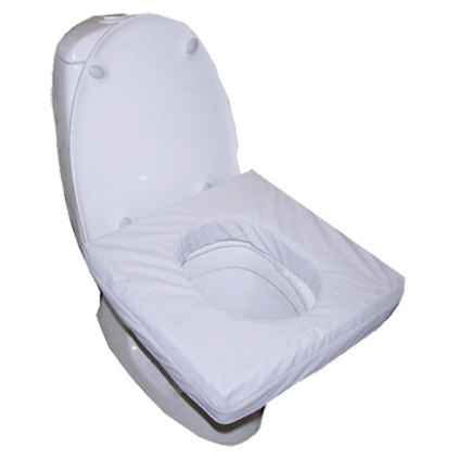 Pressure relief toilet seat cushion