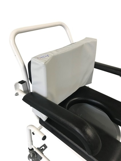 Toilet backrest cushion with side support