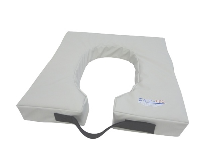 Pressure relief toilet seat cushion for men