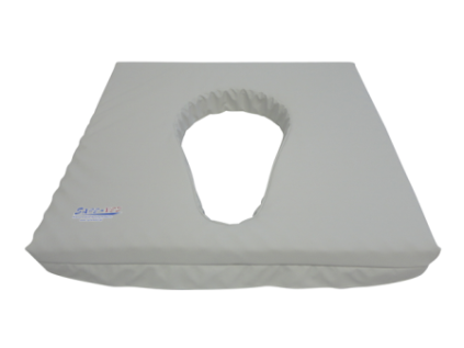 Pressure relief toiletchair seat cushion